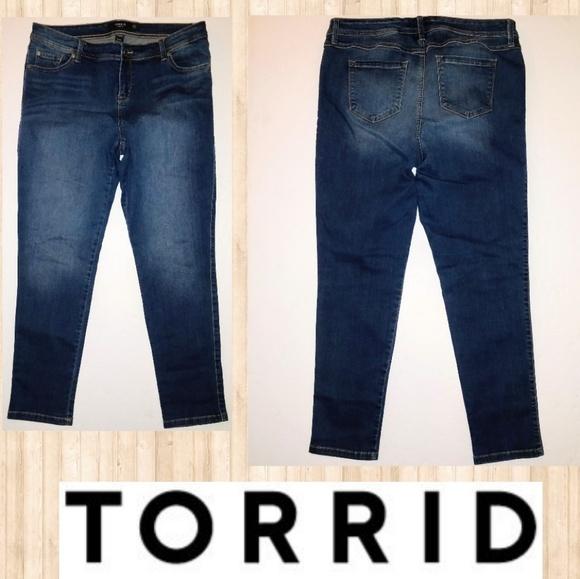d116a98b21279 torrid Jeans   Plus Size 16 Skinny Dark Faded Wash   Poshmark